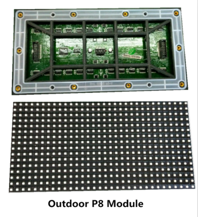 Die Casting Aluminum Outdoor Led Screen P8 SMD IP65 With Full Color High Definition