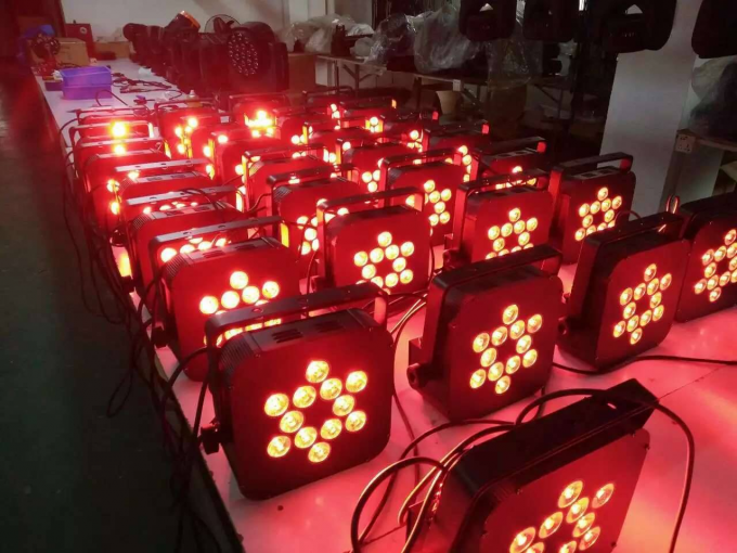 12pc 10W 4in1 Wireless LED Par Lights , Battery Powered Wireless Dmx Led Lights
