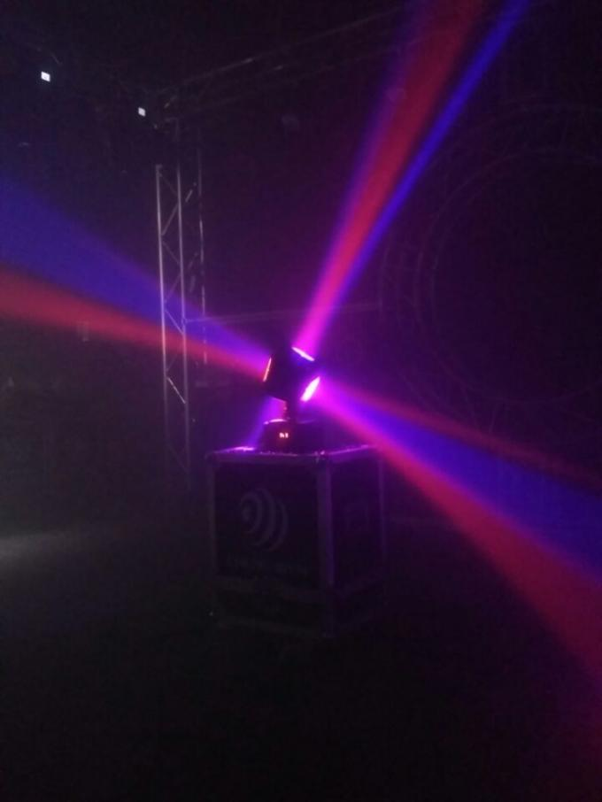 Unique Single Axis / Hot Wheel 4 x 10W Led Moving Head Light With Pixel For DJ Equipment