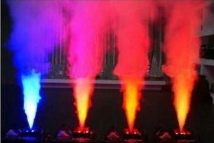 China High Output RGB LED Stage Fog Machine Wireless Remote Control , Oil Free Protection supplier