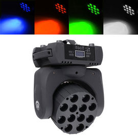 China Lightweight Led Beam Mini Led Moving Head Light Quad Beam 4in1 12pcs* 10W supplier