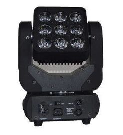 China RGBW 4in1 Matrix Led Beam Moving Head Light 3X3 Limitless Rotation 9X10W supplier