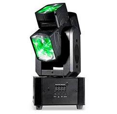 China Unique Single Axis / Hot Wheel 4 x 10W Led Moving Head Light With Pixel For DJ Equipment supplier