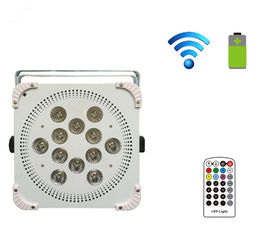 China Pro Sound 12PCS 5in1 15W Wireless Led Par Lights With Battery For Wedding Light Effect supplier