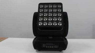 China LED Matrix Panel Beam Stage Light , 25x10w 4in1 RGBW Moving Head Lighting supplier