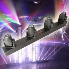 China RGBW 4x10W Rotation Led Panel Light , DMX Four Head Led Moving Head Beam Light supplier