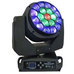 China DMX512 19x15W RGBW 4in1 LED Moving Head Light Show Lighting With 16/24 DMX CHS Channel supplier