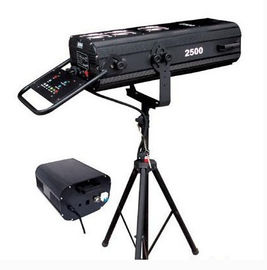 High Brightness DMX 2500w Follow Spot Light Heat Control , Manual Focus Function