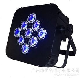 Black Box Led Mini Flat Par Light 15W 9PCS RGBWA 5in1 For Stage Decoration