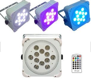 Ultra Bright Wireless Par Cans Lights , Remote Controlled Wireless Led Lights